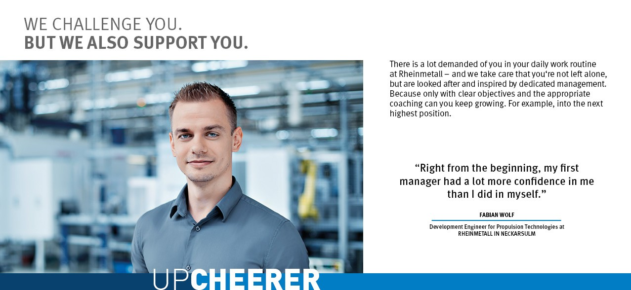 Upcheerer - Fabian Wolf - Rheinmetall Group Career Prospects